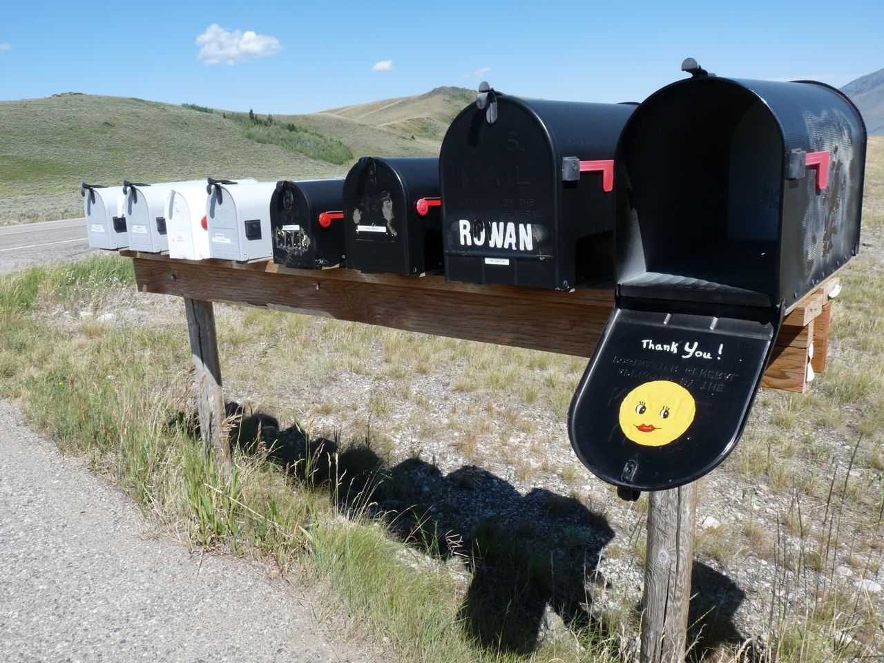Mailboxes in rural Southwestern Montana